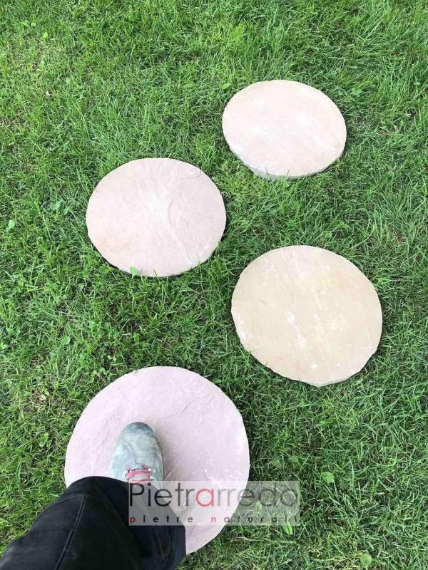 costo passi steps cerchi in pietra giapponese vialetto pietrarredo offerta