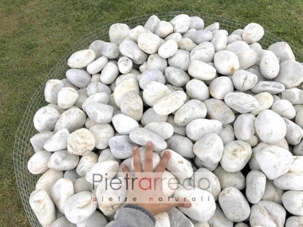 costo sassi rotondi bianchi quarzi quarzo pietrarredo milano