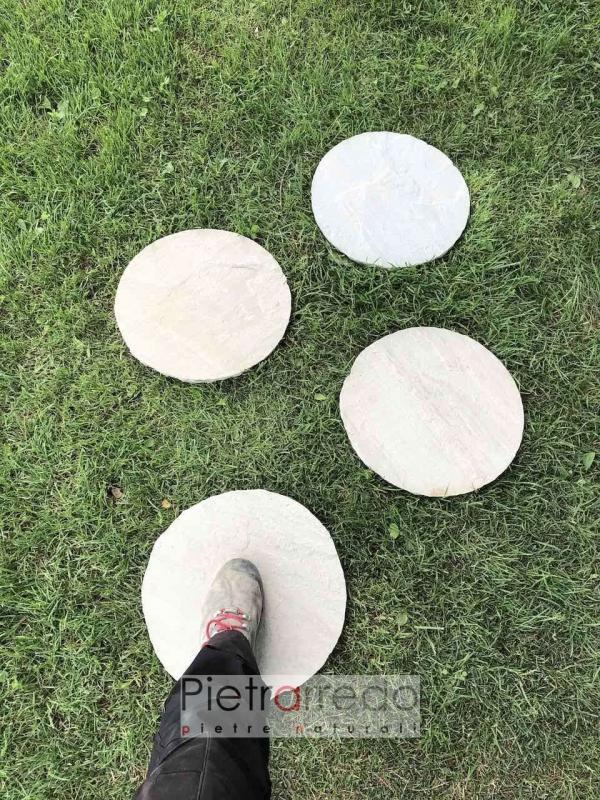 offerta e prezzi passi giapponesi ovali ion arenaria grigia indiana ovale 40 cm pietrarredo
