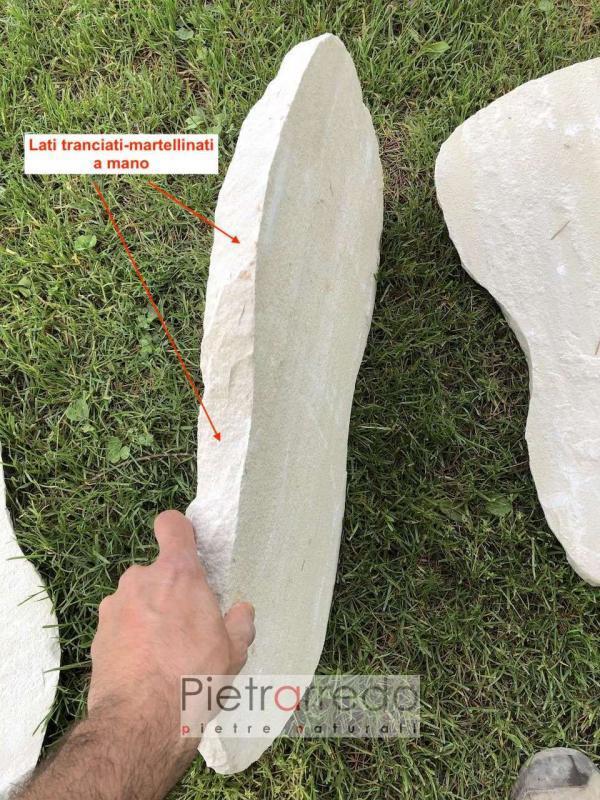 offerta e prezzo passi giapponesi in sasso giallo arenaria mint giallo 40 cm x 60 cm