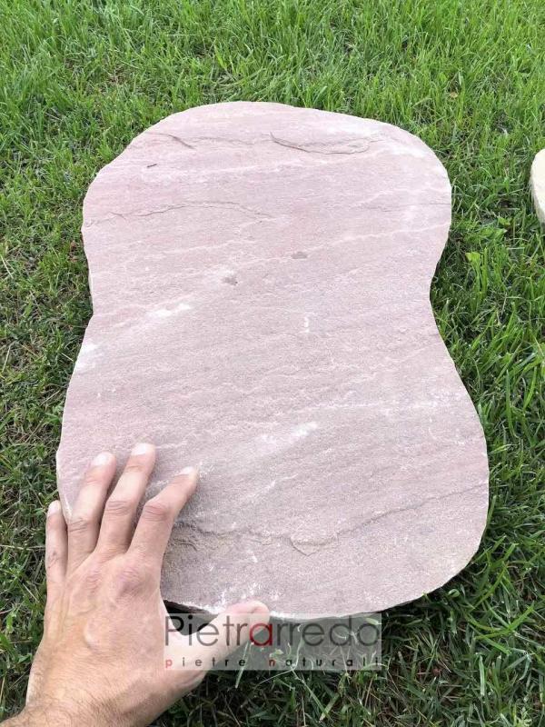 offerta e prezzo per pietre viale giardino modak rosso beige stopes garden indian pietrarredo