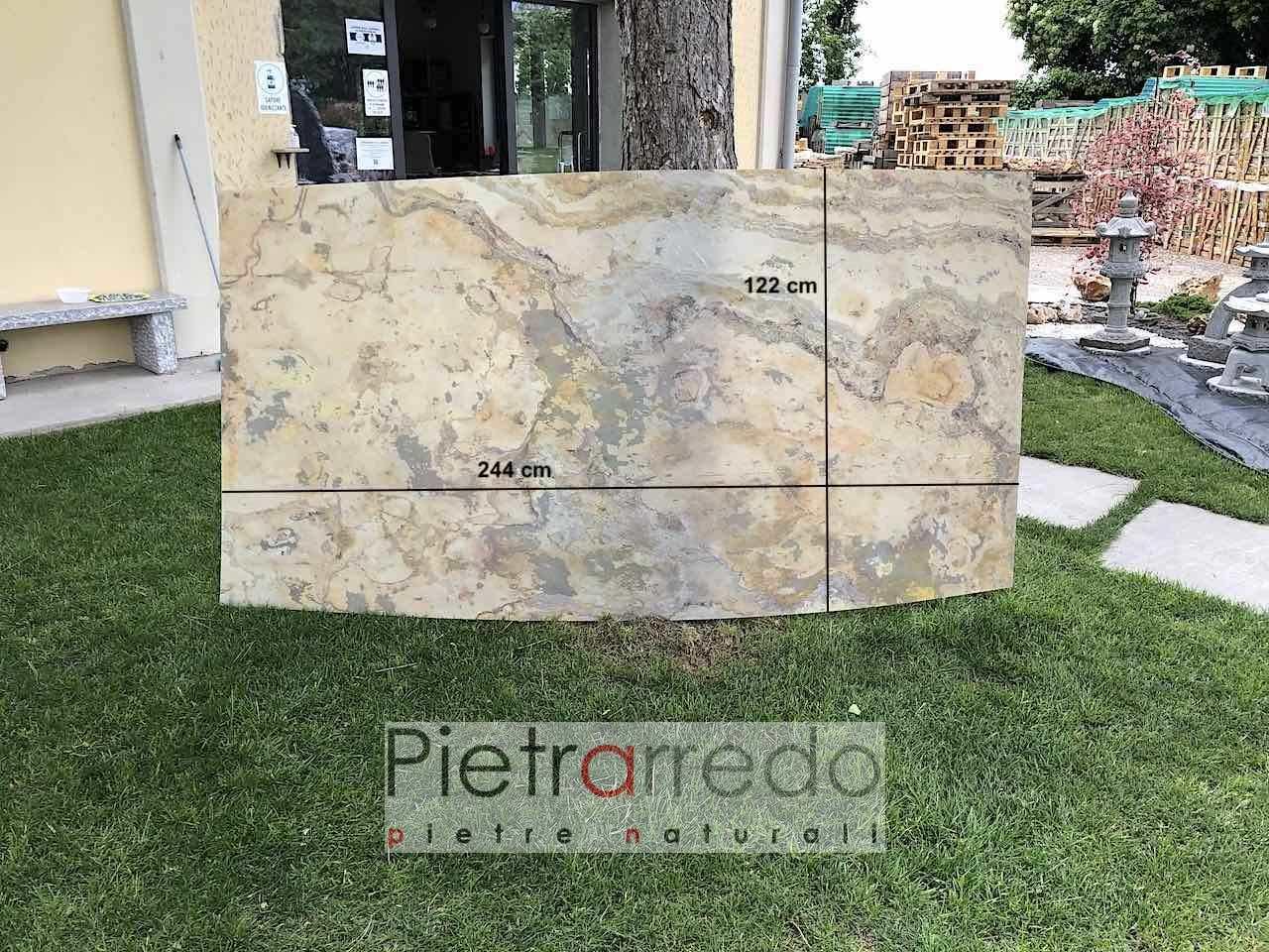 offerta onice foglio pietra trnslucent stone veener autunno pietrarredo milano illuminazione prezzo
