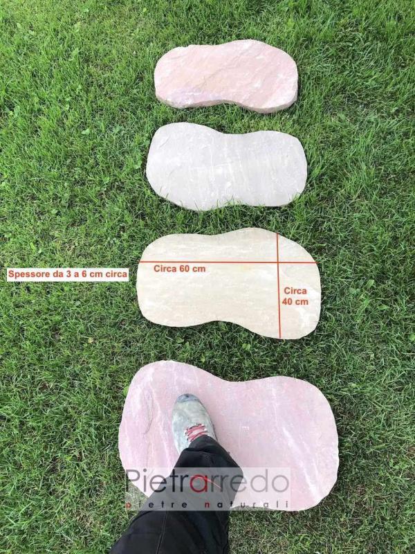 offerta prezzi passi giapponesi in modak sasso india rosso beige 60cm offerta prezzo