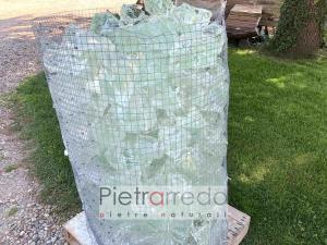 offerte per vetro a spacco trasparente per aiuole gabbie cinte giardini prezzi pietrarredo stone garden glass white
