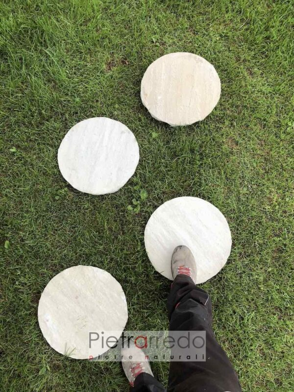 offerte steps oval yellow passi giapponesi arenaria indiana gialla pietrarredo viali giardini camminamenti