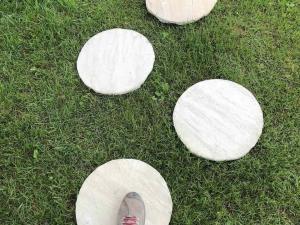 passi giapponesi ovali arenaria gialla diametro 40cm costo pietrarredo milano steps oval mint