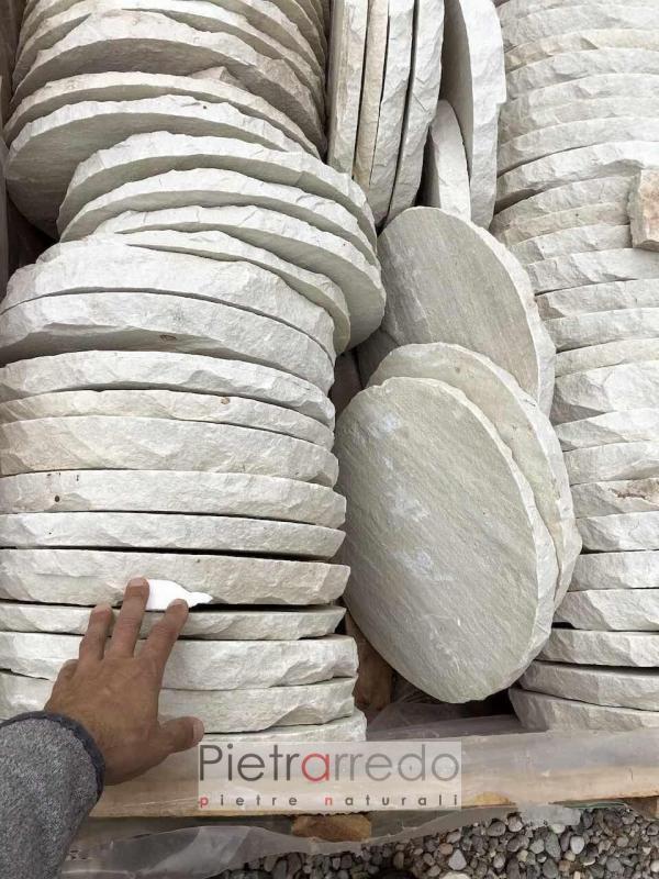 passi giuapponesi per camminamento prato rotondi ovali 40 cm offerta prezzo sasso vero pietrarredo
