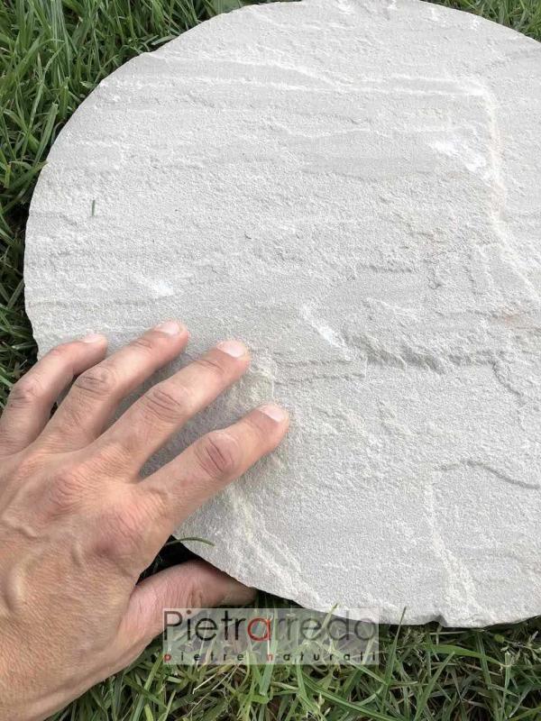 passi ovali in pietra arenaria per giardini e camminamenti pietrarredo milano prezzi