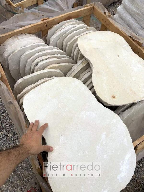 pietre per vialeti e camminamenti giardino passi lastre singole prato pietrarredo offerte italia steps mint