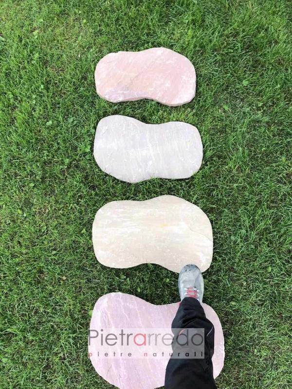 prezzi camminamento steps garden offerta prezzo modak costi pietrarredo 60 cm tondeggianti fagiolo