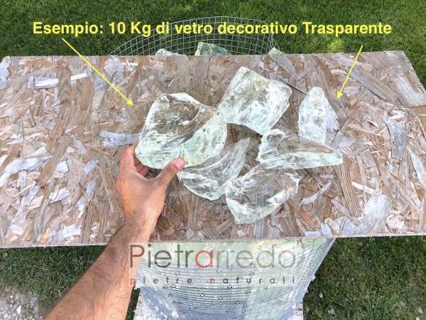 vetro decorativo per arredo giardino glass trasparente pietrarredo prezzi stone garden