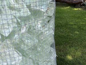 vetro decorativo trasparente per arredo giardino azzurrino glass prezzo pietrarredo