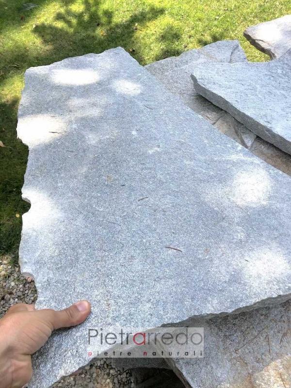 lastre giganti in sasso pietra luserna per camminamenti pietrarredo colore beige grigio prezzo stone garden