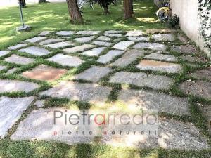 lastre in pietra luserna giganti per giardini gazebo piano piscine stone garden pietrarredo prezzo