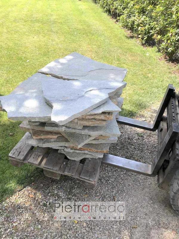 offerte e prezzi lastre per camminamenti da giardino prato stone garden aiuole prezzi pietrarredo