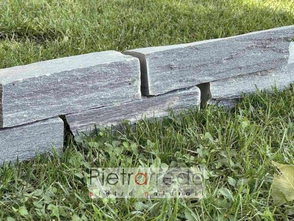 blocchetti bordure aiuole pietra serpentino verde pietrarredo italy stone green price garden