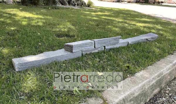bordure per aiuole blocchetti per parti etro lineare pietra serpentino verde pietrarredo prezzo