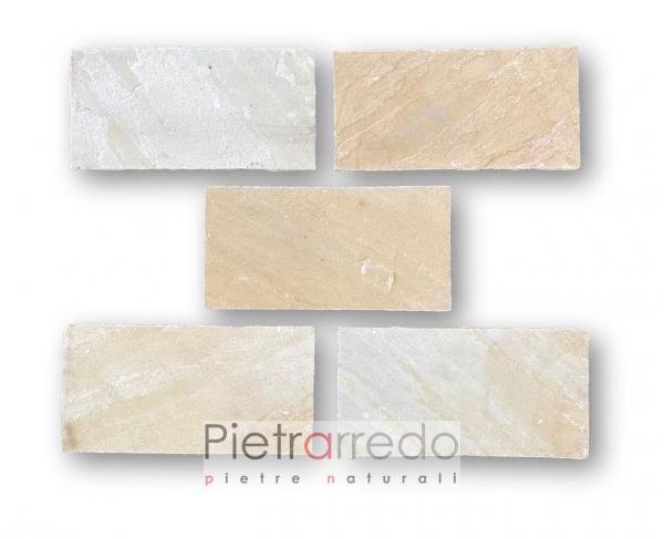 mattonella in pietra per esterno pavimento arenaria indiana mist gialla prezzo pietrarredo