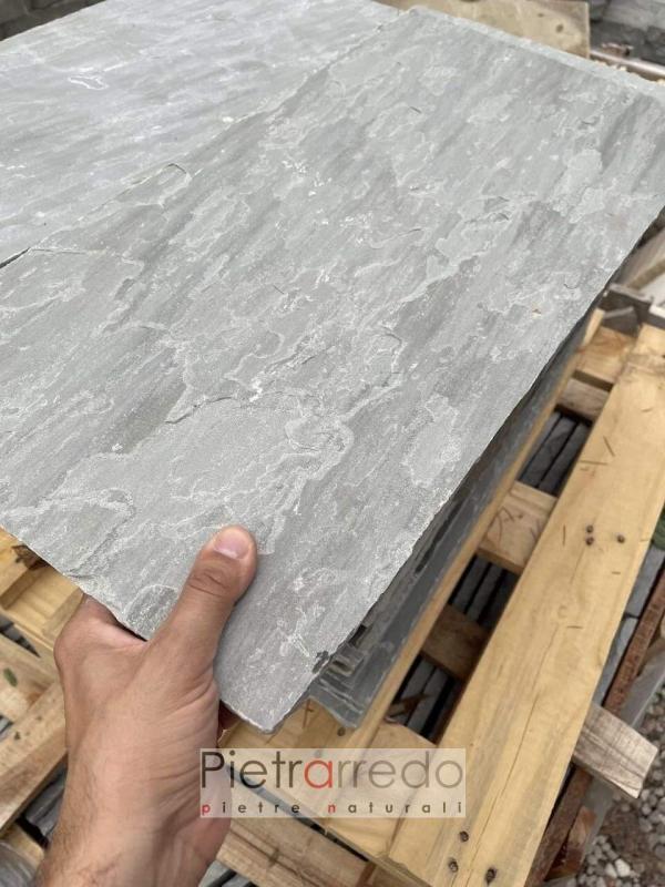 prezzo lasre in pietra arenaria indiana grigio aurumn grey kandla costi per esterni pietrarredo