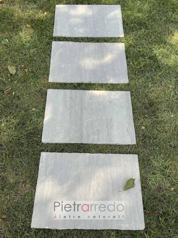 offerta pavimento pietra indiana grigio grigia kanla grey indiamn prezzo mq pietrarredo 40cm x 60cm retrosegata