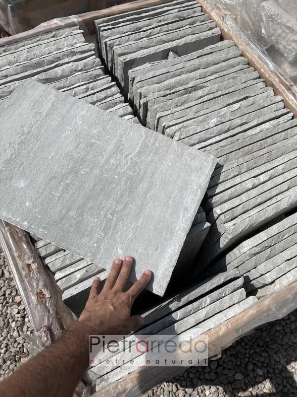 prezzo mattonelle in pietra arenaria indiana costo grigia pietrarredo milano pavimento antiscivolo