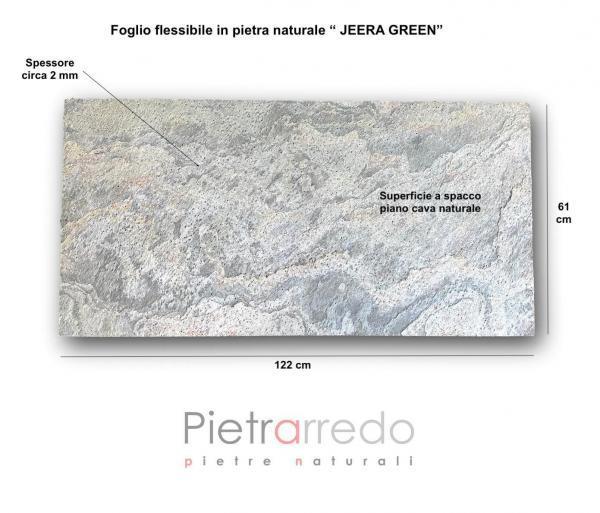 offerta rivestimento in sasso sottile pietra naturale in fogio prezzo pietrarredo jeera green