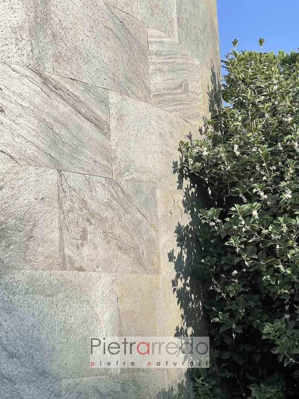 Rivestimento in pietra naturale per pareti tonde rotonde gold green pietrarredo fogli sottili prezzo