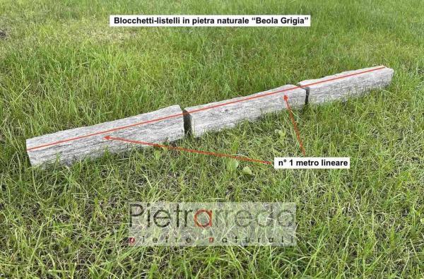 blocchetti binderi masselli in beola grigia 6 8 cm offerta e prezzo metro lineare bordure aiuole pietrarredo