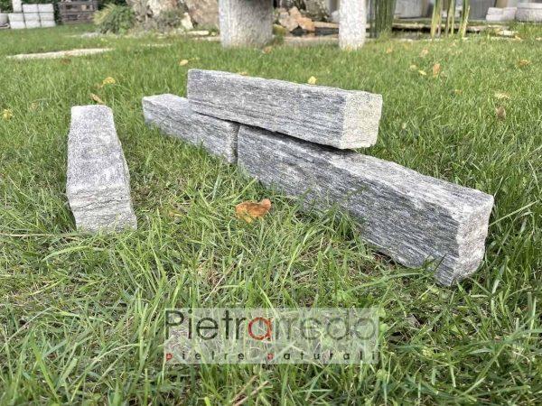 bordure blocchetti mattoni in pietra grigia per aiuole prati pietrarredo milano prezzo costo