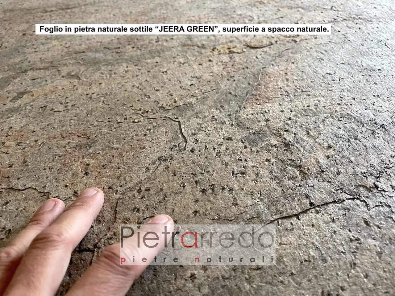 pannello flessibile in sasso pietra naturale pietrarredo ilano jeera green extraflex price