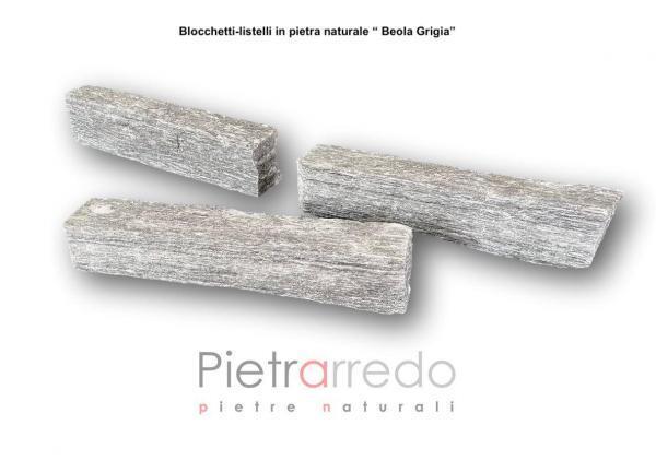 prezzo masselli beola grigia per muri e facciate costo bloccheti mattonelle fioriere pietrarredo